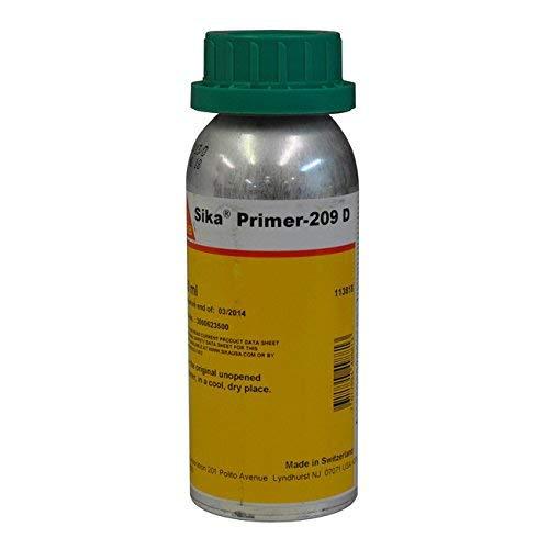 Sika 209D Polyurethane-Based Black Primer - 8 Fluid Ounce Bottle