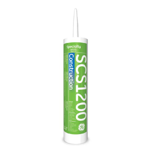 GE SCS1200 Series Construction Silicone Sealant - 10 1 Fluid