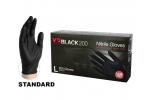 AMMEX X3 Industrial Grade Black 200 Nitrile Powder Free Gloves (Large) BX3D46100
