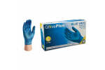 Ammex IVBPF GlovePlus Vinyl Blue Powder-Free Industrial Gloves (Medium) IVBPF44100