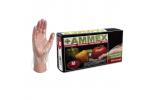 Ammex Food Service Poly Gloves 500 (Medium) PGLOVE-M-500