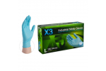 Ammex X3 Xtreme 3mil Nitrile Powder-Free Industrial Grade Textured Gloves (Medium) X344100