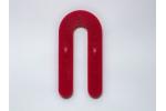 """Glazelock Interlocking Red Plastic Horseshoe Shims 1-1/2"""" x 3 x 1/8"""" Case of 1000 - GLZ02"""