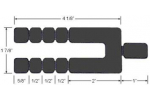 Glazelock Horseshoe Long Stackable  5-1/8 x 1 x 1/16 Inch Shims - GL16