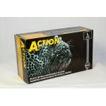Shamrock 83000 Series Powder Free Fully Textured Black Industrial Nitrile Gloves 83012