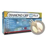 Microflex DiamondGrip Plus Powder Free Latex Exam Grade Gloves Medium DGP-350-M