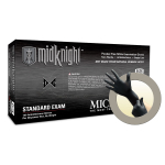Microflex MidKnight Powder Free Nitrile Exam Grade Gloves Medium MK-296-M