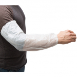 Ammex White Latex-Free Poly Sleeves (One Size Fits All) PSLEEVE-W
