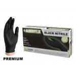 Ammex Professional Series Black Nitrile Exam Gloves Case (Small) ABNPF42100