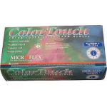 Microflex ColorTouch CT-133 Series Color-Coded, Powdered Latex Disposable Gloves - Large - CT-133-L