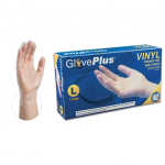 Ammex IVPF GlovePlus Vinyl Powder-Free Industrial Gloves (Medium) IVPF44100