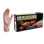 Ammex Food Service Poly Gloves 500 (Medium) PGLOVE-M-500