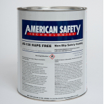 ITW American Safety AS-150 Haps Free Black Non-Slip Floor and Deck Coating - 1 Gallon Can - AS126K