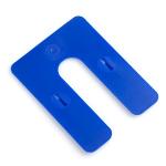 "Glazelock Interlocking Blue Plastic Shims 3"" x 4"" x 1/16"" - Case of 1000 GLZ06"