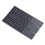 """Glazelock WL-02 Black Wedge-Lock Shim - Polystyrene - 1 1/2"""" X 8"""" X 5/16"""" - GWL02"""