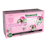 Shamrock 15000 Series Size Small Bubble Gum Flavor Powder-Free Latex Examination Gloves - Case 15111