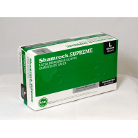 Shamrock Supreme 60500 Series Size Small Powder-Free Light Weight Latex General Purpose Disposable Gloves - Case 60501