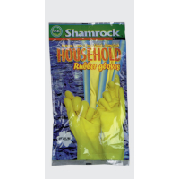 "Shamrock 96000 Series, Yellow, Size Medium, Flock-Lined, Household, Latex, 12"" Cuff, Gloves Case 96012"