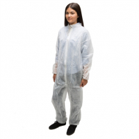 Ammex CO35 Poly Spun Latex Free Coveralls (Medium) - Case of 25 CO35M