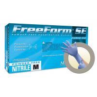 Microflex FreeForm EC Extended Cuff Powder Free Nitrile Exam Grade Gloves Medium FFS-700-M