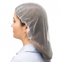 "Ammex 21"" HN White Nylon Hair Nets - Case of 1,000 HN21W"