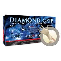 Microflex Diamond Grip Powder Free Latex Exam Grade Gloves Medium MF-300-M