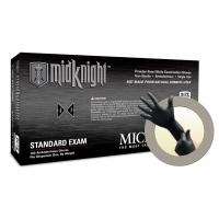 Microflex MidKnight Powder Free Nitrile Exam Grade Gloves Medium MK-296-M