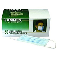 Ammex Blue Ear Loop Face Masks - Case of 600 ELFM