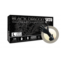 Microflex Black Dragon Zero BD-1000-NPF Nitrile Powder Free Exam Gloves (Extra Small) BD-1000-NPF-XS