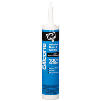 DAP All Purpose White 100% Silicone Window, Door and Siding Sealant - 10.1 Fluid Ounce Cartridges 08684