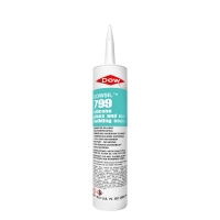 Dow Corning 799 Clear Glass and Metal Building Silicone Sealant Cartridge 799C