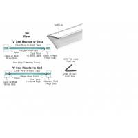 "CRL Translucent Vinyl Edge 'V' Seal for 1/4"" Maximum Gap With Pre-Applied Tape - 95""L - SDTST2"