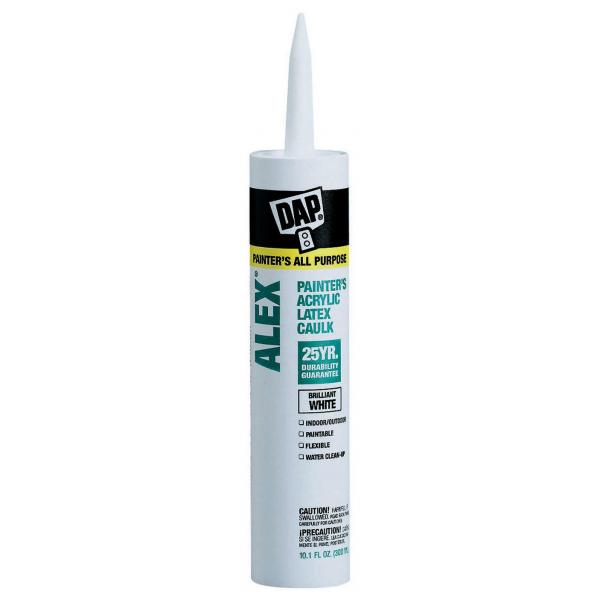 DAP Alex White Painter's Acrylic Latex Caulk - 10.1 Fluid Ounce Cartridge