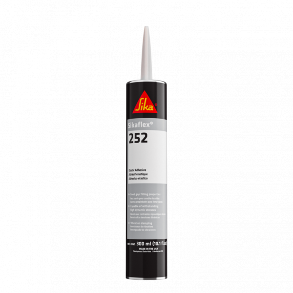 Sikaflex 252 - 1 Black Component, Moisture Cured, Polyurethane Adhesive Cartridge 252BL