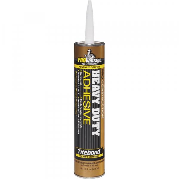 Titebond Provantage Pro Heavy Duty Construction Adhesive 10 Fluid Ounce Cartridge 5251