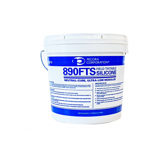 Pecora 890FTS Field Tintable, Non-Staining, Smooth, Silicone Sealant - 1.5 Gallon Pail - 890FTS