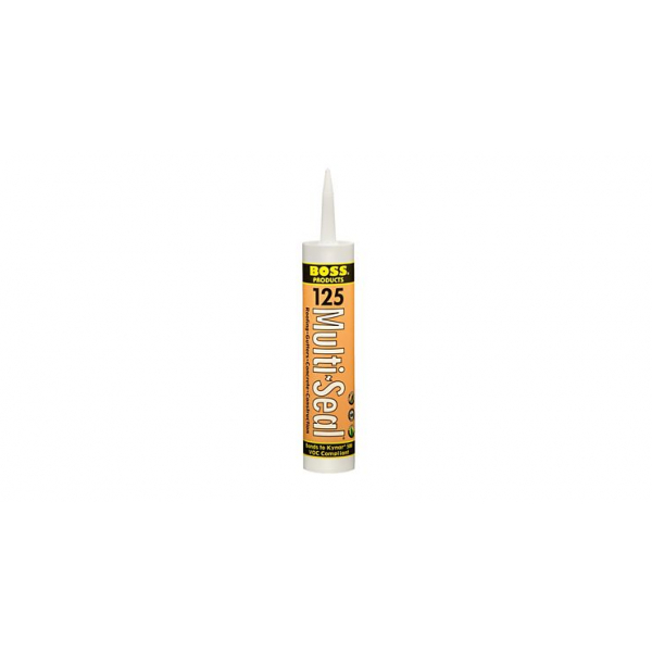 BOSS 125 White Multi-Seal Roofing / Construction Sealant - 10 Fluid Ounce Cartridge 03970WH10