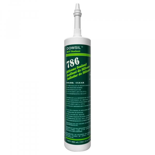 Dow Corning 786 Clear Silicone RTV Sealant Cartridge 786C
