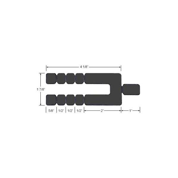"Glazelock Horseshoe Long Stackable 5-1/8"" x 1-7/8"" x 1/16"" Shims - Pack of 16 GL16-16"