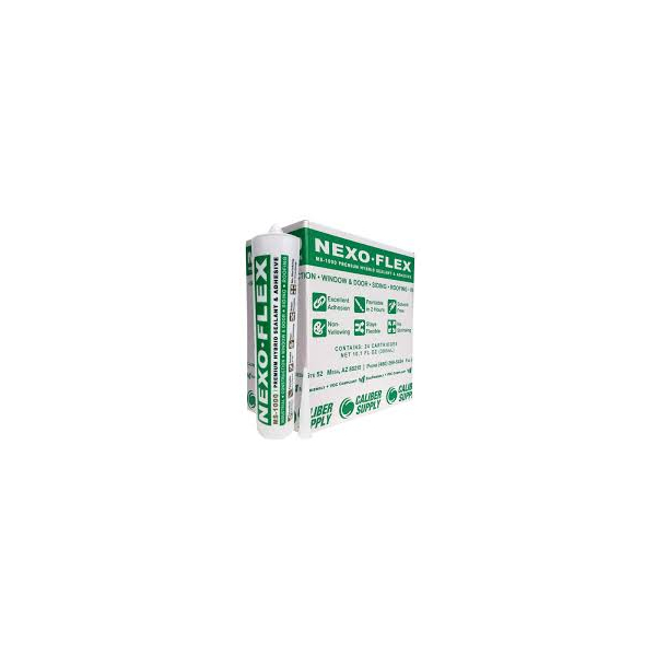 Nexo-Flex MS-1000 White Premium Hybrid Sealant and Adhesive - 10.1 Fluid Ounce Cartridge MS1000W