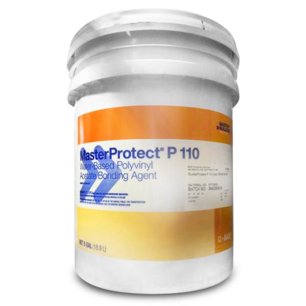 BASF MasterProtect P 110 Water-Based Polyvinyl Acetate Bonding Agent - 5 Gallon Pail