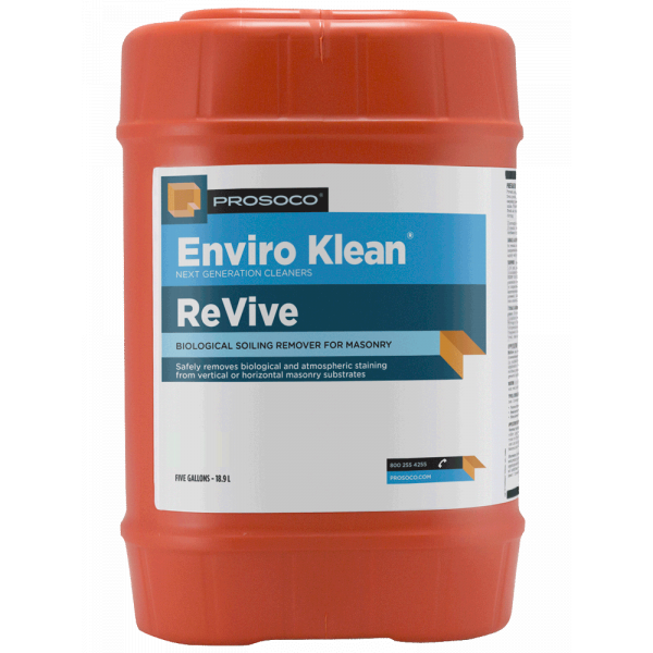 Prosoco Enviro Klean ReVive Mold and Mildew Remover - 5 Gallon Container 41055-5GAL