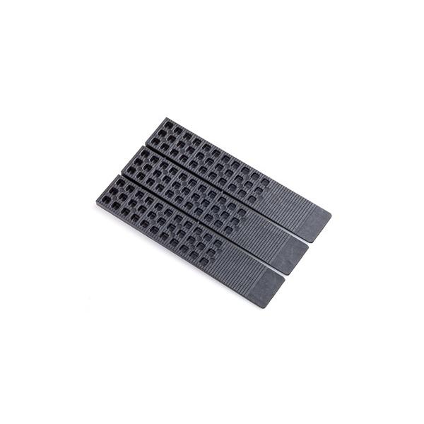 "Glazelock WL-02 Black Wedge-Lock 1-1/2"" x 8"" x 5/16"" Polystyrene Shims - Case of 288 GLWL02"